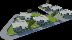 Vista aerea urbanización chalets