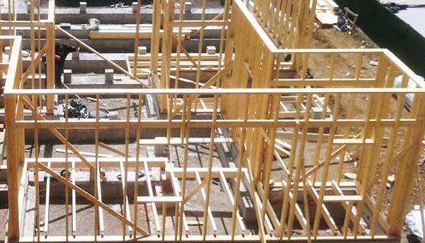 Construcción casa estructura de madera