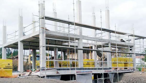 Construcción casa estructura hormigón