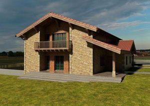 Diseño de casa estilo rústico