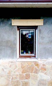Aplacado piedra construcción casa