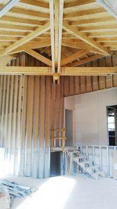 Construcción casa cubierta madera