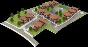 Vista aerea construccion casas