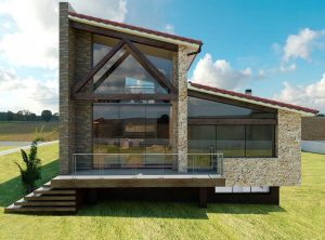 Diseño casa cristalera